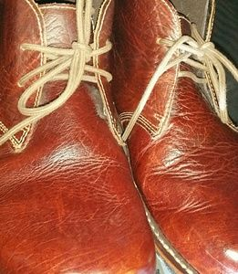 Duluth Trading Co. Bison Leather Ankle Boots